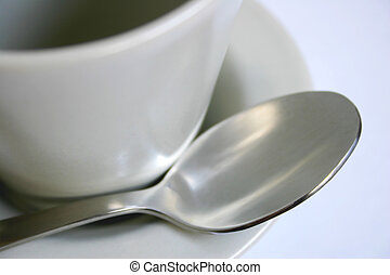 fin, café, haut, tasse