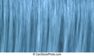 fin, chute eau, haut