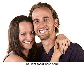 fin, couple, haut, heureux