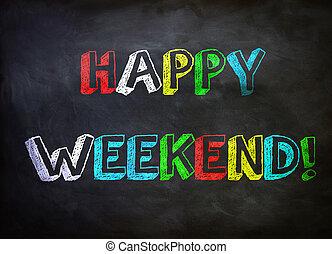fin de semana, feliz