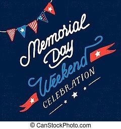 fin de semana, tarjeta, vendimia, día conmemorativo, ...