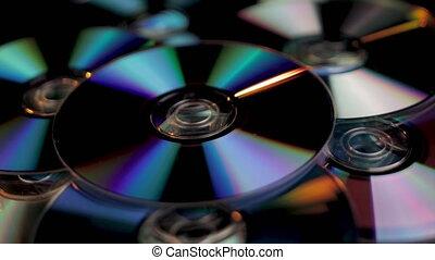 fin, dvd, multimédia, enregistrable, haut, média, storage., cd, données, numérique