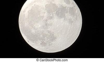 fin, entiers, haut, lune
