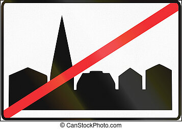 fin, estonio, área, -, urbanizado, señal, regulatory, camino
