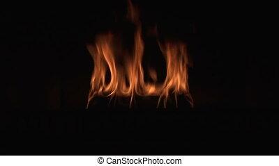 fin, flamme, haut