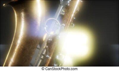 fin, instrument, haut, jazz, saxophone