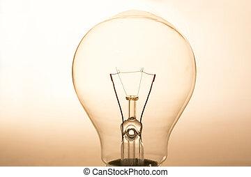 fin, lumière, éclaircissez, ampoule
