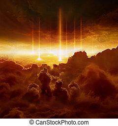 fin, reino, juicio, día, batalla, infierno, armageddon,...