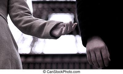 fin, relation, divorce, mains, couple, entre, femme, dissolution, homme