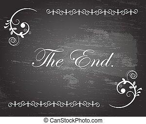 fin, título