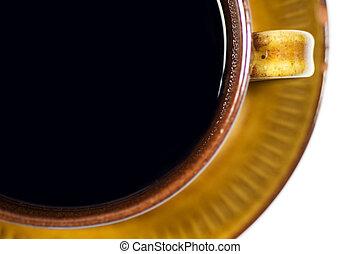 fin, tasse à café