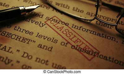 fin, top secret, classifié, haut, document-top