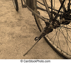fin, vélo, haut