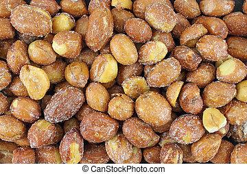 fin, vue, de, sucre, et, salé, cacahuètes
