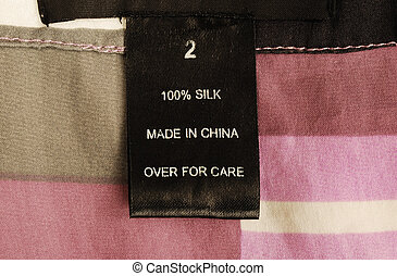 fin, vue, habillement, haut, étiquette