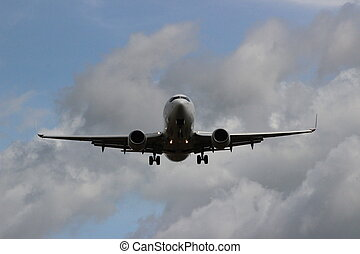 Final approach - Aircraft on final approach to land.
