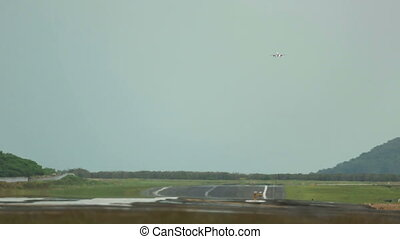 Final approach and landing