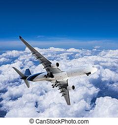 Final approach before landing