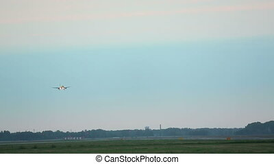 Final approach - The aircraft on the final approach to the...