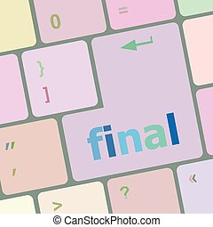 final button on computer pc keyboard key vector illustration