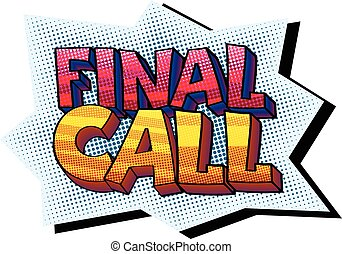 Final Call sticker