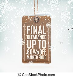 Final clearance. Realistic, vintage price tag. - Final...