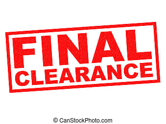 FINAL CLEARANCE Red Rubber Stamp Over A White Background
