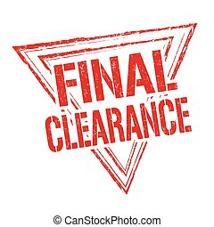 Final clearance stamp