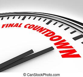 Final Countdown Clock Words Deadline Last Hours Minutes Seconds