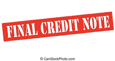 Final credit note