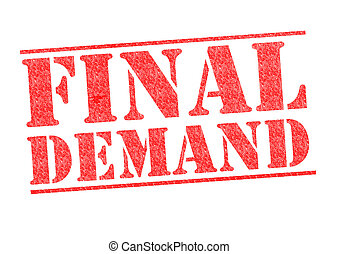 FINAL DEMAND Stamp - FINAL DEMAND rubber stamp over a white...