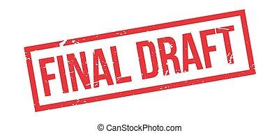 Final Draft rubber stamp on white. Print, impress,...