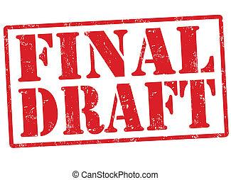 Final draft stamp - Final draft grunge rubber stamp on...