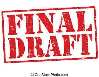 Final draft stamp - Final draft grunge rubber stamp on...