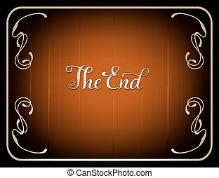 Final frame The End