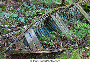 Final Harbor - At its final harbor, a broken down old vessel...