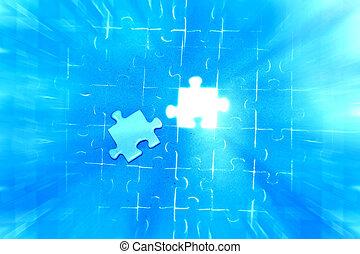 Final jigsaw puzzle piece.