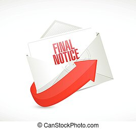 final notice mail illustration design