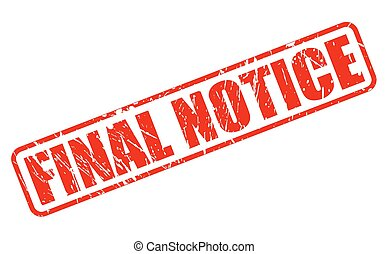 Final Notice red stamp text