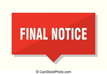final notice red tag