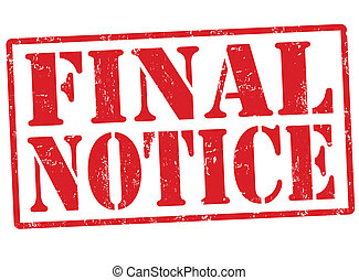 Final notice stamp - Final notice grunge rubber stamp on...