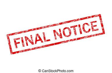 Final Notice Stamp - Grunge illustration of a final notice ...