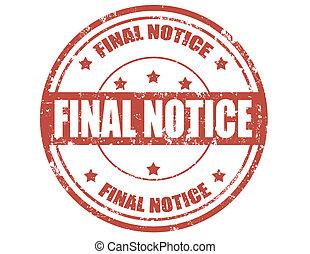 Final notice - stamp