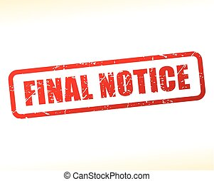 final notice text stamp