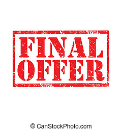 Final Offer-stamp - Grunge rubber stamp with text Final...