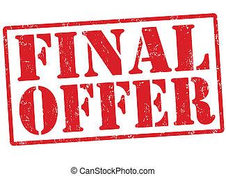 Final offer stamp