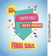 Final Sale Arrow Banner Design. Vector Sale Illustration for...