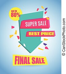 Final Sale Arrow Banner Design. Vector Sale Illustration for...