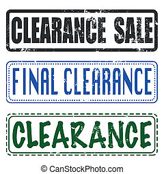 final sale clearance stamp
