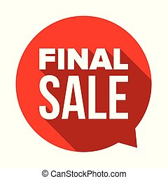Final Sale label tag sign red vector